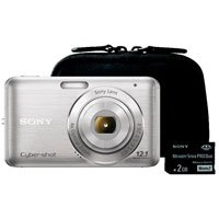 Sony DSCW310BLDS Cyber-Shot 12.1 MegaPixel Digital Camera Bundle with Case and Memory Card
