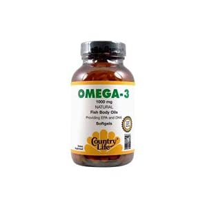 Country Life Omega 3 1000mg Fish Oil