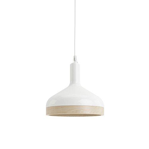 Enrico Zanolla Plera in ceramica e legno massiccio lampadario a sospensione, bianco LTPL22W