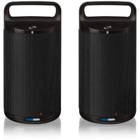 Ilive Wireless Bluetooth Speakers, Set Of 2 (Black)