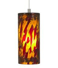 Lbl Lighting Hs459Amrbz1B50Mpt Abbey Low Voltage Pendant, Bronze Finish With Blue-Amber-Red Glass Shade