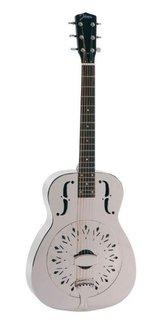 Johnson JM-998E Resonator Akustikgitarre, Dobro mit Tonabnehmer, Satin Silver