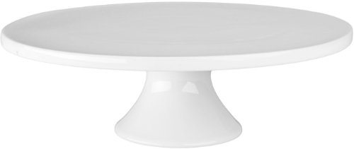Bia Cordon Bleu 12-Inch By 3-3/4-Inch Porcelain Round Cake Stand, White
