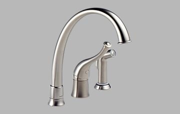 Brizo 61601-SS170 Providence Single Handle Kitchen Faucet with Spray – Stainless