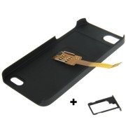 3 in 1 (Kiwibird Q-SIM Dual SIM Card Multi-SIM Card + Plastic Case + Tray Holder) for iPhone 5S
