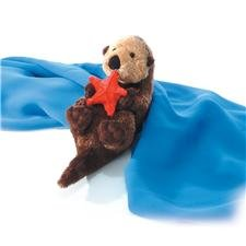 Plush Otto Sea Otter Mini Flopsie 8""