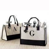 Mud Pie L-Initial Canvas Tote (Personalized Womens Gifts compare prices)