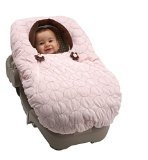 NoJo Double Zipper Baby Cover-Up - Pink Velboa with Flower Pull Color: Pink NewBorn, Kid, Child, Childern, Infant, Baby
