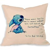 Disney Lilo and Stitch Quote Copy Pillow Case (20x20 two sides)