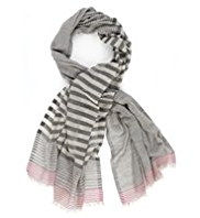 Autograph Lightweight Multi-Striped Scarf with Modal