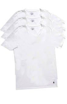 Polo Ralph Lauren Mens Crew Neck Slim Fit T-Shirt White S