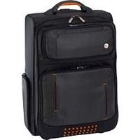 Targus Urban Overnight Roller - Laptop carrying case - black, orange