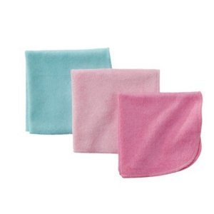 Circo® Baby Girls' Assorted Solid Washcloth Set - Pink and Teal - 1