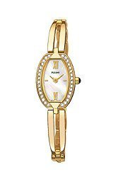 Ladies' Yellow Tone, Pulsar CrystallizedTM Fashion Watch Picture