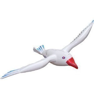 1 x Large Inflatable 76cm SeaGull Bird Hawaiian Beach Fancy Dress Party