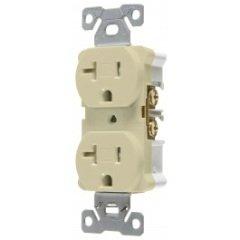 (Pack of 10 PCS in a Box) Vista 45178 - Industrial 20A 125V Tamper Resistant Duplex Outlet - NEMA 5-20R, Ivory Color