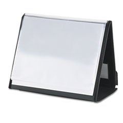* ShowFile Horizontal Display Easel, 20 Letter-Size Sleeves, Black
