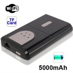 2 in 1 WIFI Wireless Router + 5000mAh Power Bank with TF Card Slot for iPhone 5 / iPhone 4 / iPad / Other Mobile Phone