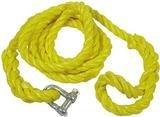 Abschleppseil. gelb, mit Schäkel, im Köfferchen,