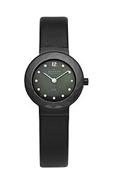 Skagen Black Leather with Glitz Women's watch #456SBLB