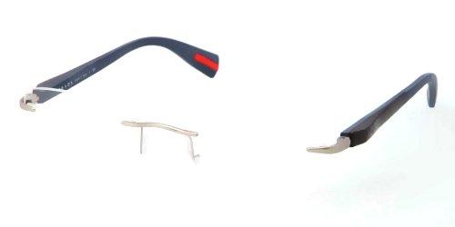 pradaPrada (Linea Rossa) PS53DV Eyeglasses-QFB/1O1 Silver Demi Shiny-55mm