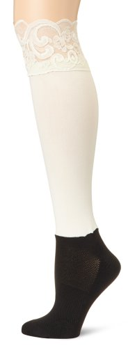 BOOTIGHTS Women's Lacie Lace Knee Hi with Ankle Sock