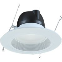 "Halo Rl560Wh Led Downlight Kit, 5"" And 6"" Rl56 Series Led Retrofit Trim, 3000K - White"
