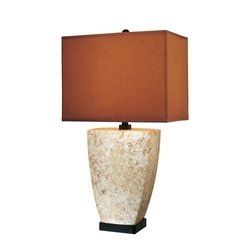Ambience 10102 Transitional Single Light Table Lamp with On/Off Inline Switch, Mottled Light Brown