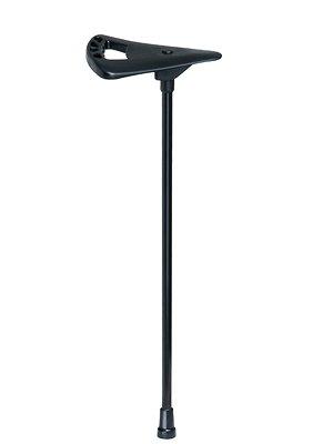 Flipstick Marcheur Canne ou Baton de marché avec siège des hauteurs de 160 à 170 cm, Couleur noir