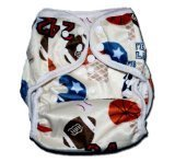 "One Size Fit All- Diaper Covers for Prefolds or Regular Inserts PUL MINKY - SPORTS (PLAYBALL) by ""BubuBibi"""