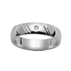 Herren-Ring, Damen-Ring, 5 mm 925 Silber rhodiniert Diamant &/62/NEU/FranceBijoux als Weihnachtsgeschenk kaufen