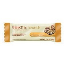 thinkThin Protein Nut Bar, Dark Chocolate Salted Caramel, 1.41 Ounce bar (pack of 10) (Think Thin Bars Caramel compare prices)