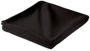 Sport-Tek Bp50 Sweatshirt Blanket - Black - Osfa front-506384