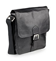 Leather Buckle Messenger Bag