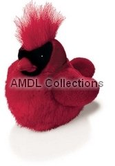 "Wildlife / Domestic Animals : Northern Cardinal Bird with Sound 6"" Plush Stuffed Animal Toy"