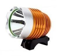 【正規輸入品】SimPretty_HighClass USB電源が使える超強力ライト! 900ルーメン(市販の1200ルーメン相当)CREE XML-T6 超高輝度LED 防水 充電自転車ヘッドライト 自転車ライト+ヘッドライト2in1機能! 明るさは2段階で調節可能! 各種モバイルバッテリー対応! サイクリング・アウトドア・夜釣りなど、夜間の野外活動に最適! 900LM 1200LM moblile battery サイクルヘッドライト USB接続タイプ(ゴールド)