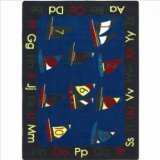 "Joy Carpets Kid Essentials Early Childhood Smooth Sailing Rug, Multicolored, 10'9"" x 13'2"""