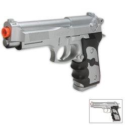 Silver M757 Spring Pistol