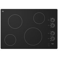 "Whirlpool W5Ce3024Xb 30"" Black Electric Smoothtop Cooktop"