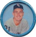 1963 Salada Tea Coins (Baseball) Card# 42 Ray Herbert Of The Chicago White Sox Exmt Condition