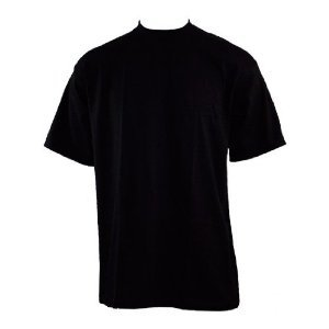 Pro5 ROUND T-Shirts heavy weight BLACK LARGE - 3 pack