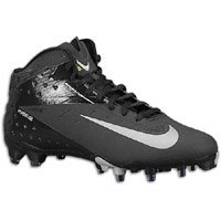 Nike Vapor Talon Elite 3/4 Mens Black/Metallic Silver Football Cleats