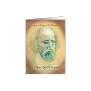 Famous Poet quotation on Love,Alfred Lord Tennyson Card