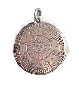 Brass SUN TALISMAN Amulet Divine Light Pendant Charm