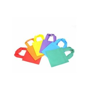 12 bright tote bags -- small