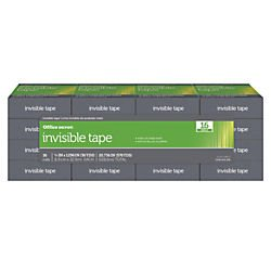 Office Depot Invisible Tape, 3/4in. x 1296in., Pack Of 16, OD-IB3436-16