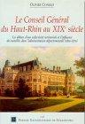 Le Conseil g�n�ral du Haut-Rhin au XI...