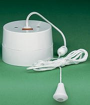 Crabtree 2163 Ceiling Pull Switch 16a Double Pole with Neon