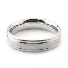 Platinum Men's & Women's wedding bands 4mm fancy, 8