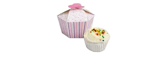 Creative Converting Presentation Station Individual Cupcake or Candy Favor Boxes, Baby Girl, 4 Boxes per Package